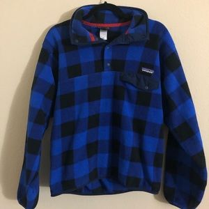 Patagonia men's plaid synchilla